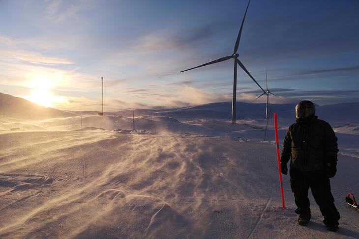 Sørfjord vind vinter