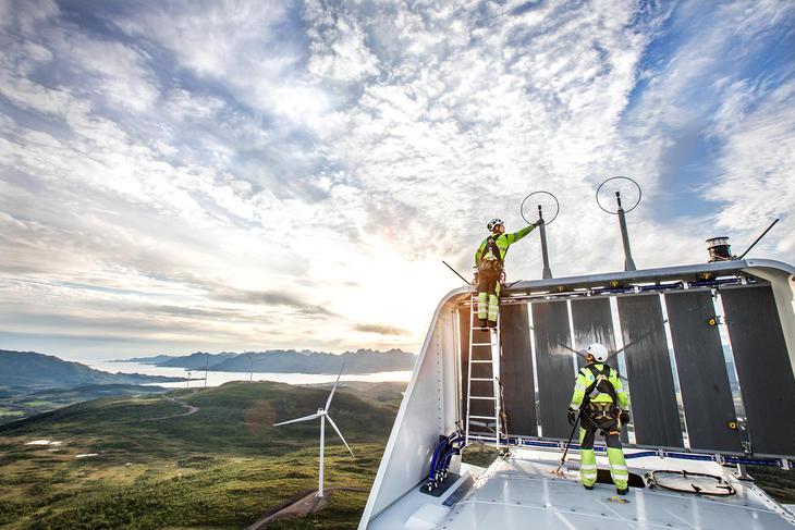 Ånstadblåheia vindpark, Sortland. Foto: Michael Ulriksen