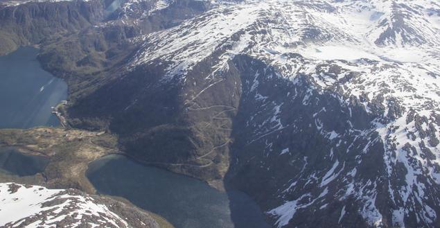 Sørfjord fra lufta