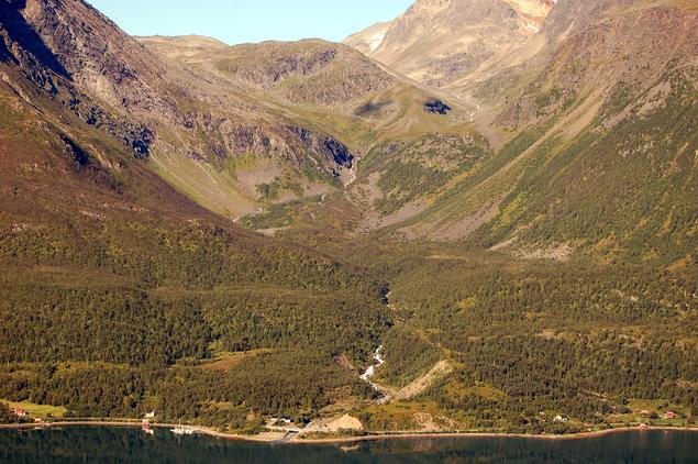 Ritaelva i Ullsfjord
