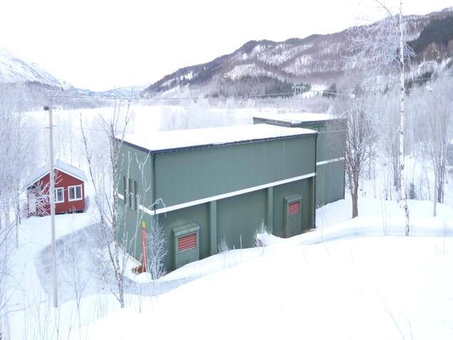 Hjertvatn kraftverk ligger ved Sjurvannet i Melkedalen