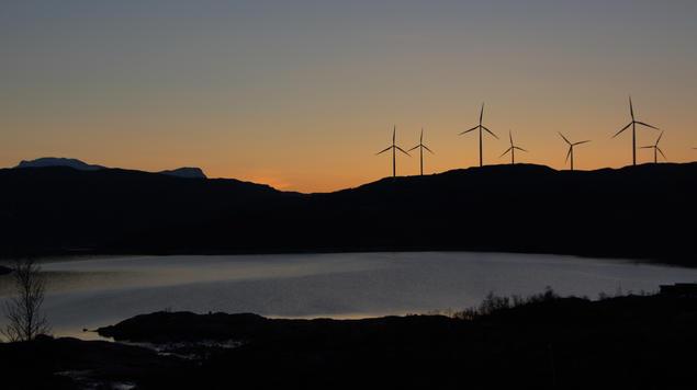 Øvre jernvann og Nygårdsfjellet vindpark