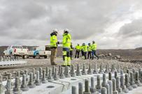 Sørfjord vindpark, utbygging