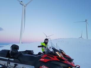Drift av Ånstadblåheia vindpark. Foto: Frank Solli, Nordkraft