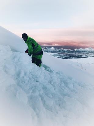 Ånstadblåheia vindpark vinter. Foto: Tor Vegard Andersen, Nordkraft