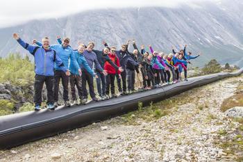 Nordkraftansatte på tur i Lappvik