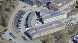 flyfoto administrasjonsbygg Nordkraft hovedkontor