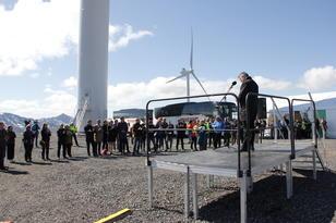 Fra åpninga av Ånstadblåheia vindpark 11. juni 2019